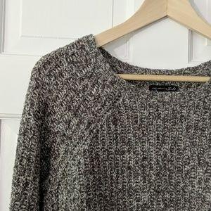 AEO sweater soft gray